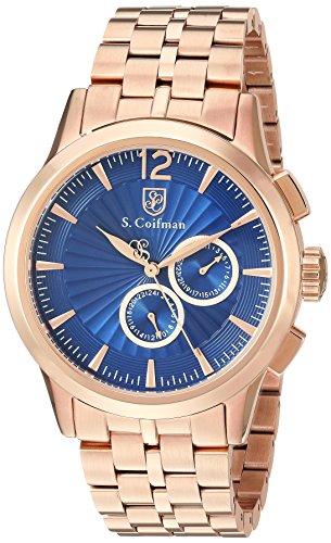 S.Coifman(コイフマン) 腕時計 メンズ S. Coifman Men's Heritage Quartz Watch with Stainless Steel Strap, Rose Gold, 12 (Model: SC0273)S.Coifman(コイフマン) 腕時計 メンズ