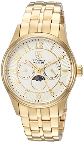 S.Coifman(コイフマン) 腕時計 メンズ S. Coifman Men's 'Heritage' Quartz Gold-Tone and Stainless Steel Casual Watch, Color:Gold (Model: SC0369)S.Coifman(コイフマン) 腕時計 メンズ
