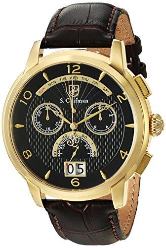 S.Coifman(コイフマン) 腕時計 メンズ S. Coifman Men's Heritage Quartz Watch with Leather Calfskin Strap, Brown, 22 (Model: SC0178)S.Coifman(コイフマン) 腕時計 メンズ