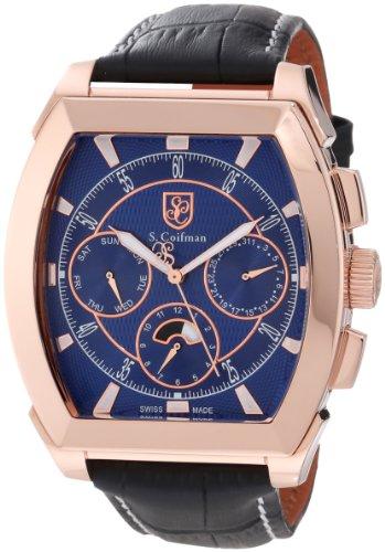 S.Coifman(コイフマン) 腕時計 メンズ 【送料無料】S. Coifman Men's SC0091 Blue Textured Dial Black Leather WatchS.Coifman(コイフマン) 腕時計 メンズ