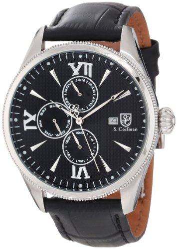S.Coifman(コイフマン) 腕時計 メンズ 【送料無料】S. Coifman Men's SC0168 Black Textured Dial Black Leather WatchS.Coifman(コイフマン) 腕時計 メンズ