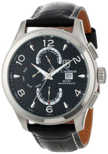 S.Coifman(コイフマン) 腕時計 メンズ S. Coifman Men's SC0105 Black Textured Dial Black Leather WatchS.Coifman(コイフマン) 腕時計 メンズ
