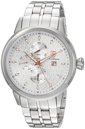 S.Coifman(コイフマン) 腕時計 メンズ S. Coifman Men's Heritage Quartz Watch with Stainless-Steel Strap, Silver, 22 (Model: SC0412)S.Coifman(コイフマン) 腕時計 メンズ
