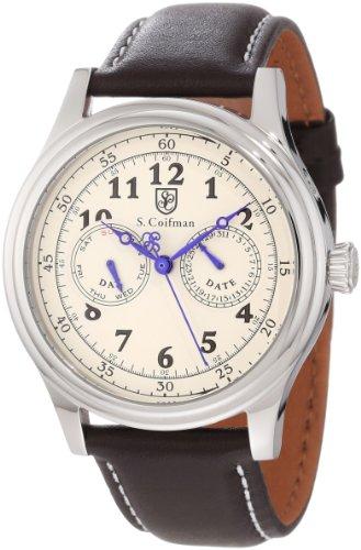 S.Coifman(コイフマン) 腕時計 メンズ S. Coifman Men's SC0275 Beige Dial Brown Leather WatchS.Coifman(コイフマン) 腕時計 メンズ