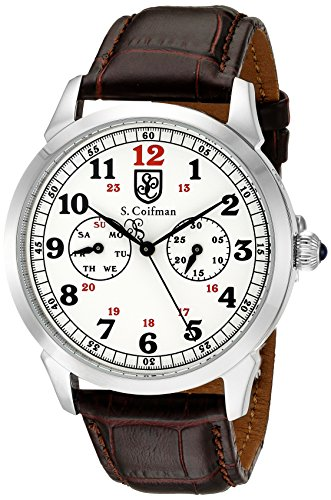 S.Coifman(コイフマン) 腕時計 メンズ 【送料無料】S. Coifman 'Men's' Swiss Quartz Stainless Steel and Leather Watch, Color:Brown (Model: SC0362)S.Coifman(コイフマン) 腕時計 メンズ