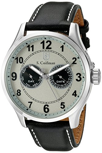 S.Coifman(コイフマン) 腕時計 メンズ 【送料無料】S. Coifman 'Men's' Swiss Quartz Stainless Steel and Leather Watch, Color:Black (Model: SC0315)S.Coifman(コイフマン) 腕時計 メンズ