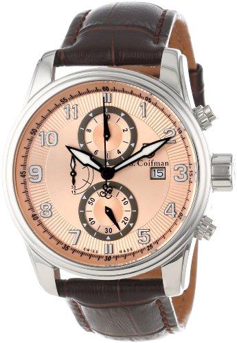 S.Coifman(コイフマン) 腕時計 メンズ S. Coifman Men's SC0306 Chronograph Rose Gold Tone Dial Brown Leather WatchS.Coifman(コイフマン) 腕時計 メンズ