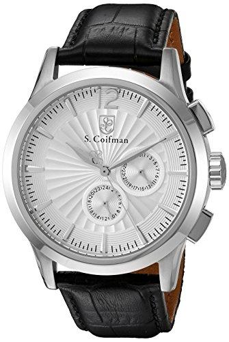 S.Coifman(コイフマン) 腕時計 メンズ S. Coifman 'Men's' Swiss Quartz Stainless Steel and Leather Watch, Color:Black (Model: SC0260)S.Coifman(コイフマン) 腕時計 メンズ