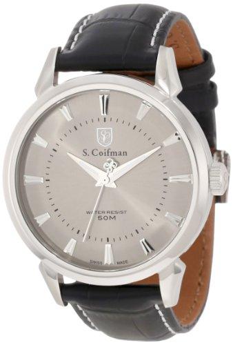 S.Coifman(コイフマン) 腕時計 メンズ S. Coifman Men's SC0282 Grey Dial Black Leather Strap WatchS.Coifman(コイフマン) 腕時計 メンズ