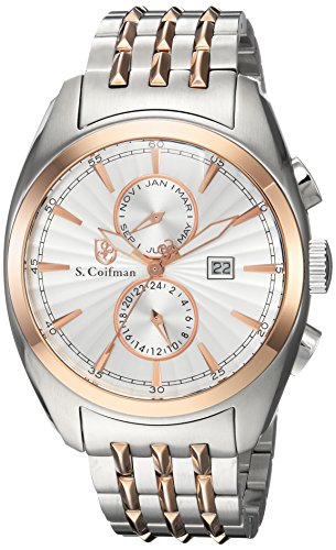 S.Coifman(コイフマン) 腕時計 メンズ S. Coifman Men's Noble Quartz Watch with Stainless-Steel Strap, Two Tone, 22 (Model: SC0140S.Coifman(コイフマン) 腕時計 メンズ