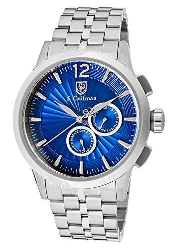 S.Coifman(コイフマン) 腕時計 メンズ 【送料無料】S.Coifman Men's Blue Textured Dial Stainless SteelS.Coifman(コイフマン) 腕時計 メンズ