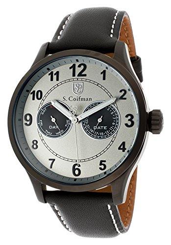 S.Coifman(コイフマン) 腕時計 メンズ S.Coifman Sc0320 Men's Light Grey Dial Black Genuine Italian Leather WatchS.Coifman(コイフマン) 腕時計 メンズ