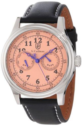 S.Coifman(コイフマン) 腕時計 メンズ 【送料無料】S. Coifman Men's SC0276 Rose Dial Black Leather WatchS.Coifman(コイフマン) 腕時計 メンズ