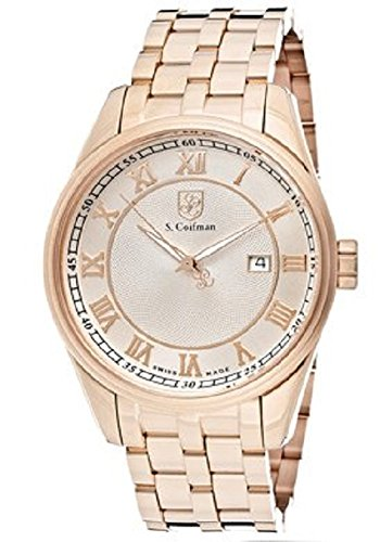 S.Coifman(コイフマン) 腕時計 メンズ 【送料無料】S.Coifman Men's Rose Gold Textured Dial 18k Rose Gold Plated Stainless SteelS.Coifman(コイフマン) 腕時計 メンズ