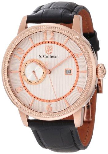 S.Coifman(コイフマン) 腕時計 メンズ 【送料無料】S. Coifman Men's SC0194 Silver Textured Dial Black Leather WatchS.Coifman(コイフマン) 腕時計 メンズ