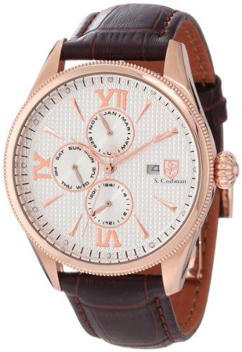 S.Coifman(コイフマン) 腕時計 メンズ S. Coifman Men's SC0174 Silver Textured Dial Brown Leather WatchS.Coifman(コイフマン) 腕時計 メンズ