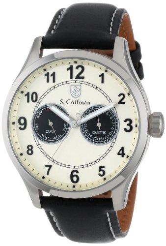 S.Coifman(コイフマン) 腕時計 メンズ 【送料無料】S. Coifman Men's SC0314 Ivory Dial Black Leather WatchS.Coifman(コイフマン) 腕時計 メンズ