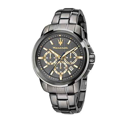 マセラティ イタリア 腕時計 メンズ 【送料無料】MASERATI Men's SUCCESSO Quartz Stainless-Steel Strap, Grey, 20 Casual Watch (Model: R8873621007)マセラティ イタリア 腕時計 メンズ