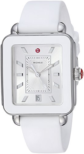 ミッシェル 腕時計 レディース ミシェル 【送料無料】MICHELE Women's Stainless Steel Swiss-Quartz Watch with Rubber Strap, White, 18 (Model: MWW06K000004)ミッシェル 腕時計 レディース ミシェル