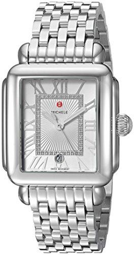 ミッシェル 腕時計 レディース ミシェル MICHELE Women's Deco Madison Swiss-Quartz Watch with Stainless-Steel Strap, Silver, 18 (Model: MWW06T000141)ミッシェル 腕時計 レディース ミシェル