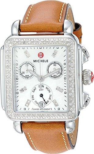 腕時計 ミッシェル レディース ミシェル 【送料無料】Michele Deco Diamond, Diamond Dial Saddle Strap Watch Saddle/Silver One Size腕時計 ミッシェル レディース ミシェル