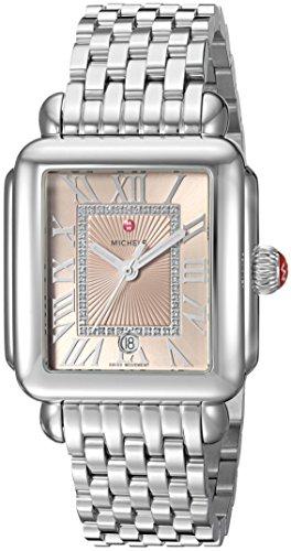 """ミッシェル 腕時計 レディース ミシェル 【送料無料】MICHELE Women""""s Deco Madison Swiss-Quartz Watch with Stainless-Steel Strap, Silver, 13 (Model: MWW06T000148)ミッシェル 腕時計 レディース ミシェル"""
