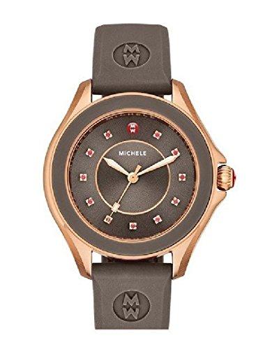 ミッシェル 腕時計 レディース ミシェル 【送料無料】Michele MWW27A000005 Cape Topaz Brown Silicone Band Rose Gold Womens Watchミッシェル 腕時計 レディース ミシェル