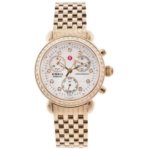 ミッシェル 腕時計 レディース ミシェル 【送料無料】Michele Womens CSX Diamond Bezel Gold Tone Chronograph Watchミッシェル 腕時計 レディース ミシェル