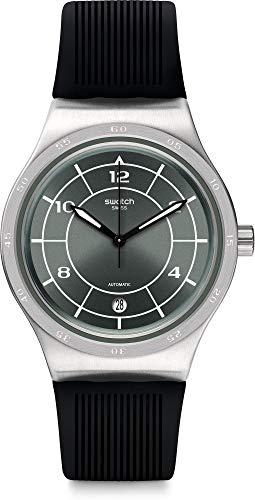 YIS419)腕時計 (Model: Quartz 【送料無料】Swatch スウォッチ メンズ with 24 Steel Strap, 腕時計 Rubber メンズ Stainless Men's Watch スウォッチ Black,