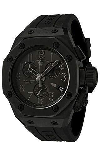 スイスレジェンド 腕時計 メンズ 【送料無料】Swiss Legend Men's 10541-BLK Trimix Diver Chronograph Watch with Black Dial and Black Silicone Strapスイスレジェンド 腕時計 メンズ