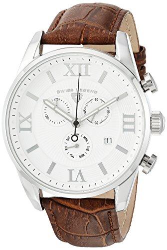 スイスレジェンド 腕時計 メンズ Swiss Legend Men's 'Bellezza' Swiss Quartz Stainless Steel and Leather Casual Watch, Color:Brown (Model: 22011-02-BRN)スイスレジェンド 腕時計 メンズ