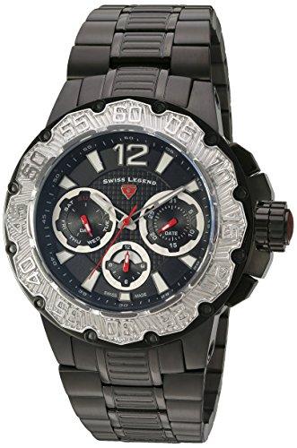 スイスレジェンド 腕時計 メンズ 【送料無料】Swiss Legend Men's 'Ultrasonic' Quartz Stainless Steel Watch, Color:Black (Model: 14097SM-BB-11-SB)スイスレジェンド 腕時計 メンズ