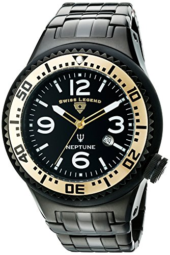 スイスレジェンド 腕時計 メンズ 【送料無料】Swiss Legend Men's 21819P-BB-11-GB Neptune Force Analog Display Swiss Quartz Black Watchスイスレジェンド 腕時計 メンズ