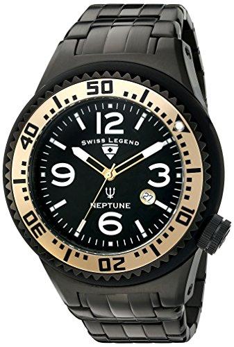 スイスレジェンド 腕時計 メンズ 【送料無料】Swiss Legend Men's 21819P-BB-11-GA Neptune Force Analog Display Swiss Quartz Black Watchスイスレジェンド 腕時計 メンズ