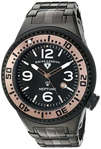 スイスレジェンド 腕時計 メンズ Swiss Legend Men's 'Neptune Force' Swiss Quartz Stainless Steel Casual Watch (Model: 21819P-BB-11-RA)スイスレジェンド 腕時計 メンズ