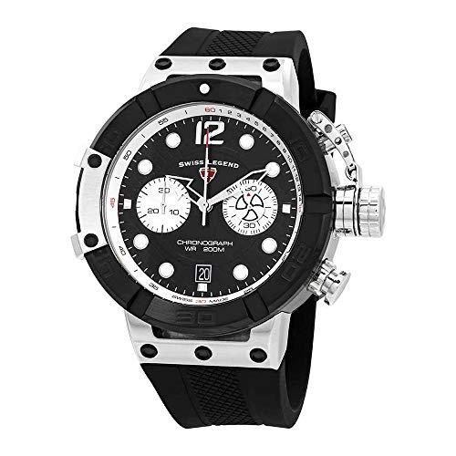 スイスレジェンド 腕時計 メンズ Swiss Legend Triton Chronograph Black Dial Watch SL-10719SM-01-BBスイスレジェンド 腕時計 メンズ