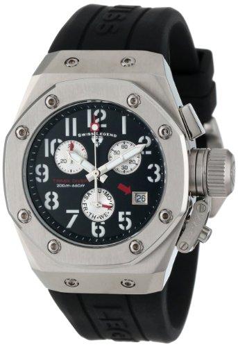 腕時計 スイスレジェンド メンズ 【送料無料】Swiss Legend Women's 10535-01 Trimix Diver Chronograph Black Dial Black Silicone Watch腕時計 スイスレジェンド メンズ