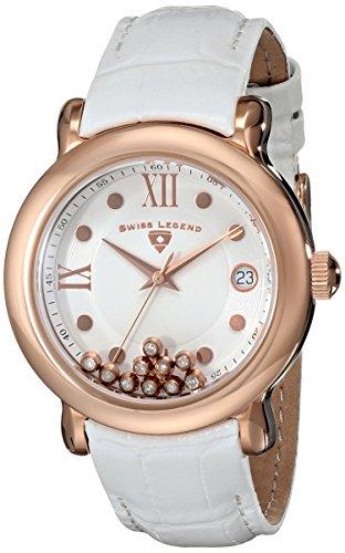 スイスレジェンド 腕時計 レディース Swiss Legend Women's 22388-RG-02 Diamanti Analog Display Swiss Quartz White Watchスイスレジェンド 腕時計 レディース