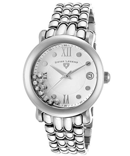 スイスレジェンド 腕時計 レディース Swiss Legend Women's 22388-22 Diamanti Analog Display Swiss Quartz Silver Watchスイスレジェンド 腕時計 レディース