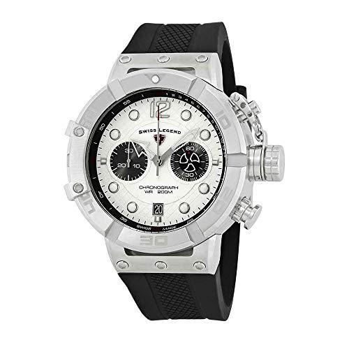 スイスレジェンド 腕時計 メンズ Swiss Legend Triton Chronograph Silver Dial Watch SL-10719SM-02Sスイスレジェンド 腕時計 メンズ