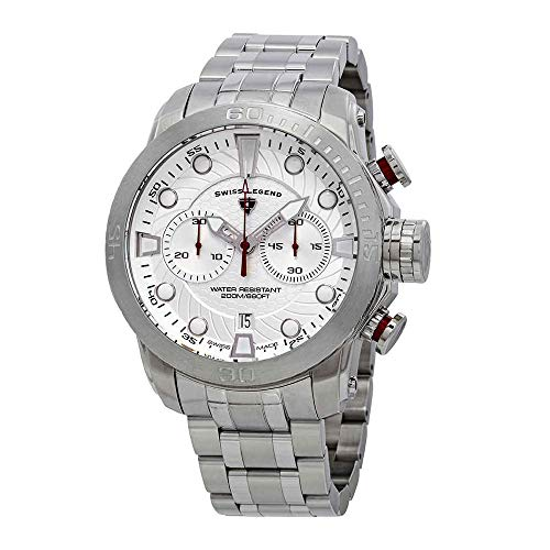 スイスレジェンド 腕時計 メンズ Swiss Legend Seagate Chronograph Silver Dial Watch SL-10624SM-22Sスイスレジェンド 腕時計 メンズ