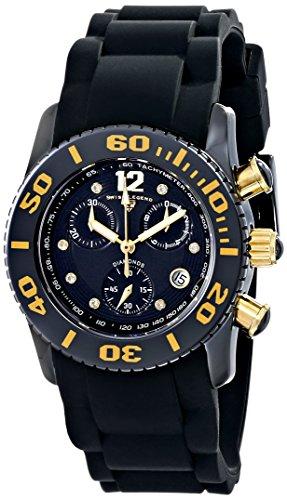 スイスレジェンド 腕時計 レディース Swiss Legend Women's 10128-01-GA Commander Diamonds Analog Display Swiss Quartz Black Watchスイスレジェンド 腕時計 レディース