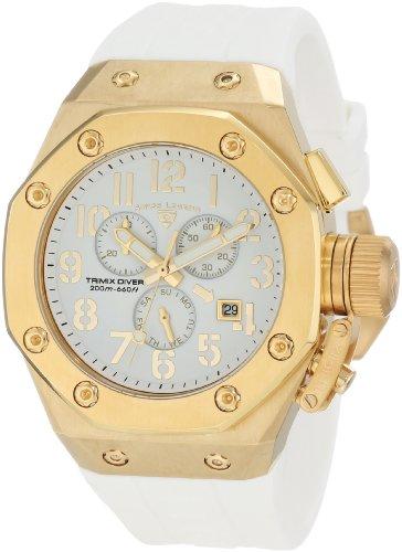 スイスレジェンド 腕時計 メンズ 【送料無料】Swiss Legend Men's 10541-YG-02-WA Trimix Diver Chronograph White Dial Watchスイスレジェンド 腕時計 メンズ