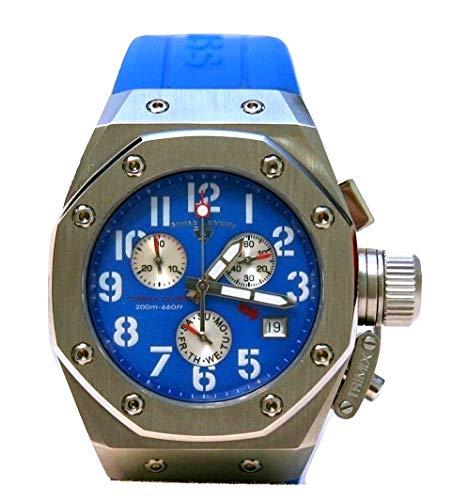 スイスレジェンド 腕時計 レディース Swiss Legend 10535-03 Trimix Women's Diver Chronograph Watch with Blue Dial & Blue Silicone Strapスイスレジェンド 腕時計 レディース