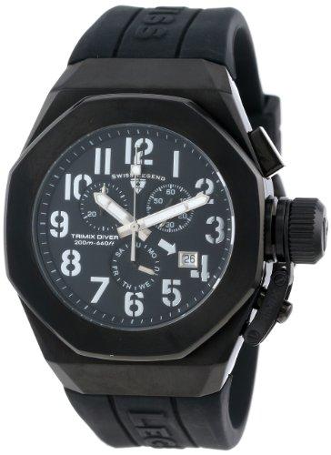 腕時計 スイスレジェンド メンズ 【送料無料】Swiss Legend Men's 10542-BB-01-SA Trimix Diver Chronograph Black Dial Black Silicone Watch腕時計 スイスレジェンド メンズ