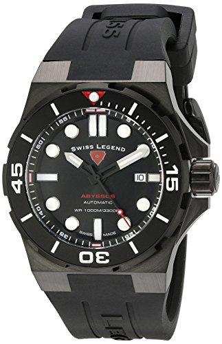 スイスレジェンド 腕時計 メンズ Swiss Legend Men's 10062A-BB-01-BLK-SM-RDB Abyssos Analog Display Swiss Automatic Black Watchスイスレジェンド 腕時計 メンズ