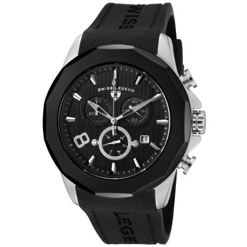 スイスレジェンド 腕時計 メンズ Swiss Legend Men's SL-10042-01-BB Monte Carlo Black Silicone Watchスイスレジェンド 腕時計 メンズ