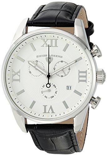 スイスレジェンド 腕時計 メンズ Swiss Legend Men's Bellezza Stainless Steel Swiss-Quartz Watch with Leather Calfskin Strap, Black, 21 (Model: 22011-02-BLK)スイスレジェンド 腕時計 メンズ