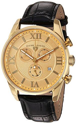 スイスレジェンド 腕時計 メンズ Swiss Legend Men's Bellezza Stainless Steel Swiss-Quartz Watch with Leather Calfskin Strap, Black, 21 (Model: 22011-YG-010-BLK)スイスレジェンド 腕時計 メンズ