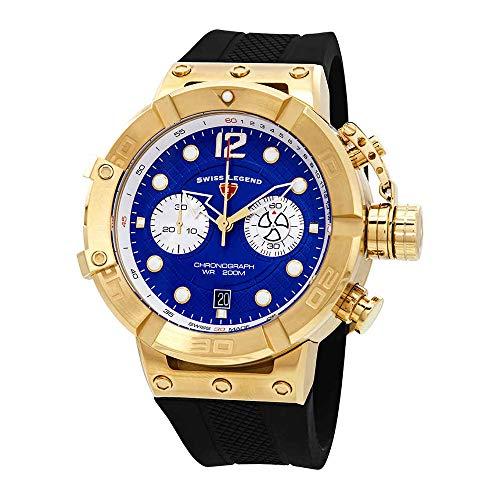 スイスレジェンド 腕時計 メンズ Swiss Legend Triton Chronograph Blue Dial Watch SL-10719SM-YG-03スイスレジェンド 腕時計 メンズ